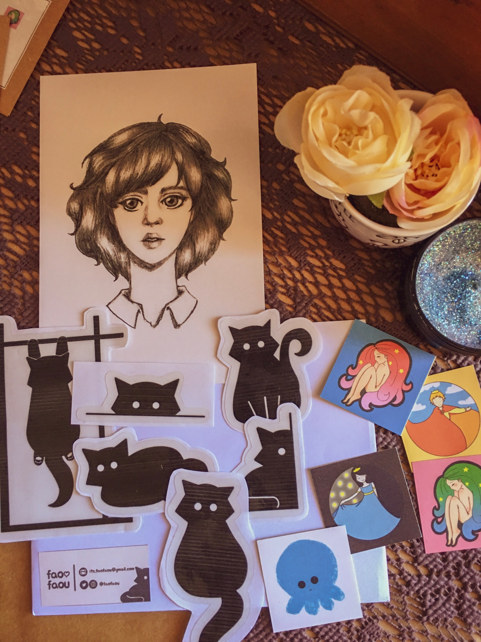 faofaou stickers and art prints